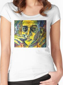 Turn Pro, Hunter S. Thompson tribute Women's Fitted Scoop T-Shirt