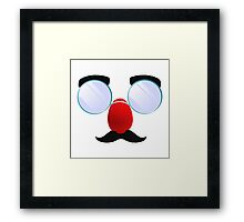 Funny Glasses with a red nose. Framed Print