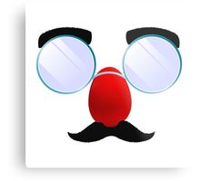 Funny Glasses with a red nose. Metal Print