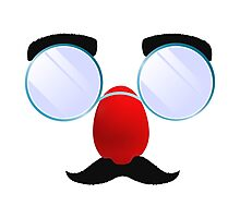 Funny Glasses with a red nose. Photographic Print