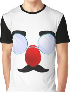 Funny Glasses with a red nose. Graphic T-Shirt