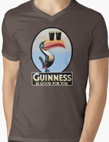 GUINNESS IS GOOD FOR YOU TOUCAN Mens V-Neck T-Shirt