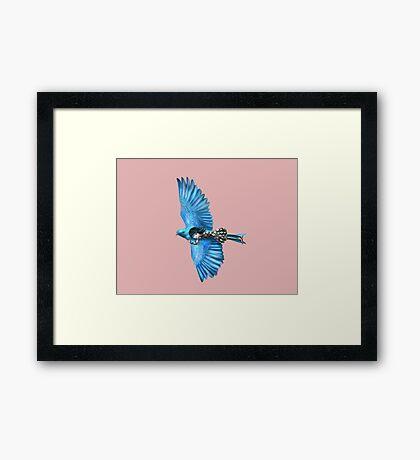 The Blue Bird Framed Print