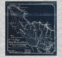 208 Map showing location of the Gallego forty thousand acres of coal and timber lands Fayette County W Va Inverted One Piece - Long Sleeve