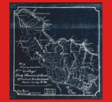 208 Map showing location of the Gallego forty thousand acres of coal and timber lands Fayette County W Va Inverted One Piece - Short Sleeve