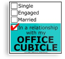 In A Relationship With My Office Cubicle Metal Print