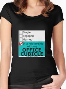 In A Relationship With My Office Cubicle Women's Fitted Scoop T-Shirt