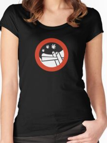No Joint Smoking, Street Sign, Amsterdam, Netherlands Women's Fitted Scoop T-Shirt