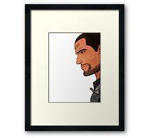 Commander Shepard's Profile Framed Print