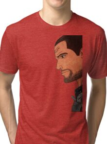 Commander Shepard's Profile Tri-blend T-Shirt