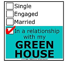 In A Relationship With My Green House Photographic Print