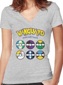 Cardfight Vanguard Balls Women's Fitted V-Neck T-Shirt