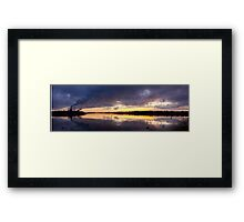 Oulu sunset Framed Print