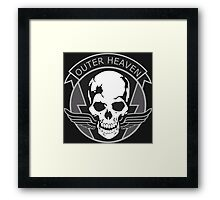 MGS - Outer Heaven Logo Framed Print