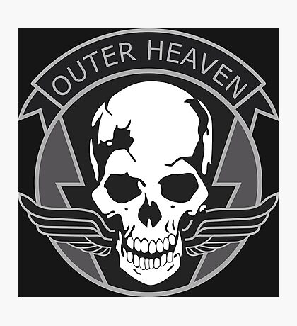 MGS - Outer Heaven Logo Photographic Print