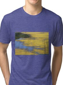 Pond abstract Tri-blend T-Shirt