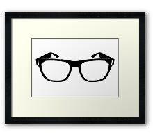 Hipster (or nerd) glasses Framed Print