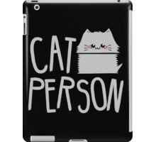 cat person iPad Case/Skin