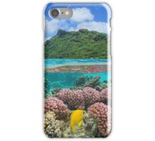 Island coral and fish underwater French Polynesia iPhone Case/Skin