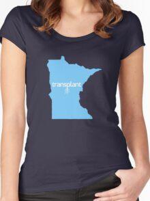 Minnesota Transplant MN Blue Women's Fitted Scoop T-Shirt