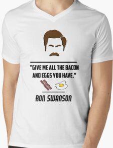 Ron Swanson Mens V-Neck T-Shirt