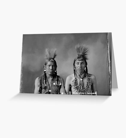 Howard King, Portrait of Cree Indians  Greeting Card