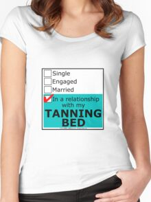 In A Relationship With My Tanning Bed Women's Fitted Scoop T-Shirt