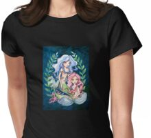 Mermaid Sisters Womens Fitted T-Shirt