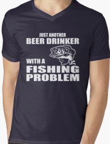 Just another beer drinker with a fishing problem Mens V-Neck T-Shirt