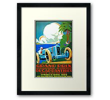 Classic cars motor racing Grand Prix French Riviera 1929  Framed Print