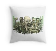 Breaking Bad all characters logo Throw Pillow