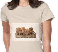Dogue De Bordeaux Puppies Womens Fitted T-Shirt