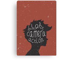 Light. Camera. Action. Cinemaholic. Canvas Print