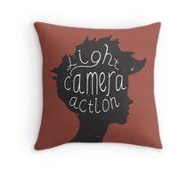 Light. Camera. Action. Cinemaholic. Throw Pillow