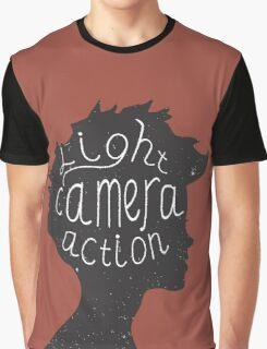 Light. Camera. Action. Cinemaholic. Graphic T-Shirt