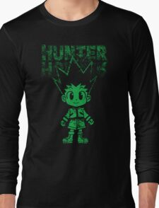 cute green hunter Long Sleeve T-Shirt