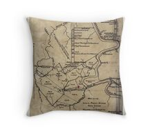 189 Map of the Loup-Piney Divide coal lands in Fayette and Raleigh cos West Virginia Throw Pillow