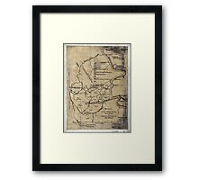 189 Map of the Loup-Piney Divide coal lands in Fayette and Raleigh cos West Virginia Framed Print