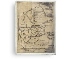 189 Map of the Loup-Piney Divide coal lands in Fayette and Raleigh cos West Virginia Metal Print