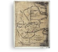 189 Map of the Loup-Piney Divide coal lands in Fayette and Raleigh cos West Virginia Canvas Print