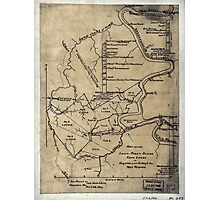 189 Map of the Loup-Piney Divide coal lands in Fayette and Raleigh cos West Virginia Photographic Print
