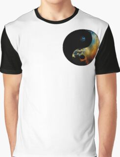 Space Yin&Yang Graphic T-Shirt
