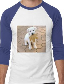 Patriotic Puppy Men's Baseball ¾ T-Shirt