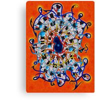 Amistedos V2 - digital art Canvas Print