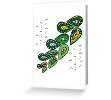touch green Greeting Card