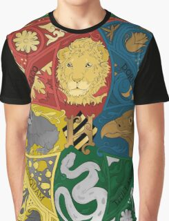 Hogwarts Crest Tapestry Full Color Graphic T-Shirt