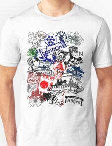 Travel Destination Passport Stamps Unisex T-Shirt