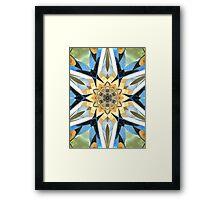 Golden Flower Abstract Framed Print