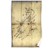 072  Rough sketch of roads and streams in Pocahontas and Greenbrier counties West Virginia Poster