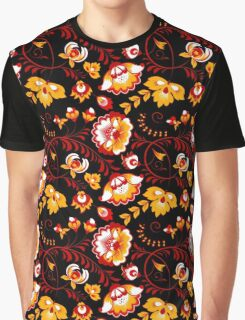 Slavic Pattern, black background #4 Graphic T-Shirt